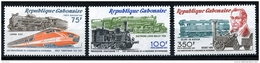 Gabon, 1981, Trains, Stephenson, Locomotives, Railroad, MNH, Michel 777-779 - Gabon