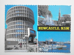 Postcard Newcastle  N S W Administration Building Civic Park Fountain Ships In The Port PU 1982 My Ref B21835 - Newcastle