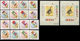 Soccer Football Hungary #1830/7 A/B + Bl 34 A/B Perf + Imperf 1962 World Cup Chile MNH ** - Coupe Du Monde