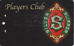 Silver Slipper Casino - Lakeshore, MS - BLANK Slot Card - Hole In Middle Side - Text Tight To Left Edge - Casino Cards
