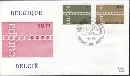 BELGIEN 1633-1634, FDC, Europa CEPT 1971 - Europa-CEPT