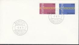 ISLAND 451-452, FDC, Europa CEPT 1971 - Europa-CEPT