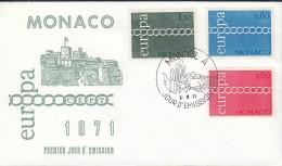 MONACO 1014-1016, FDC, Europa CEPT 1971 - Europa-CEPT