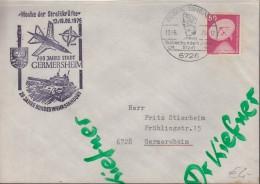 """Brief Zur """"Woche Der Streitkräfte"""" 20 Jahre Bundeswehrstandort, Stempel: Germersheim 700 Jahre Stadt 19.6.1976 - Documents"""