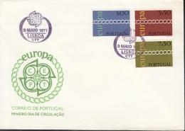 PORTUGAL 1127-1129 FDC, Europa CEPT 1971 - Europa-CEPT