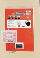 PORTUGAL ATM 1.2 B Auf AK: Wertzeichenautomat FRAMA FE 254, Stempel ESSEN 26.5.84 Zur 5. Int.Briefmarken-Messe Essen '84 - Vignette Di Affrancatura (ATM/Frama)