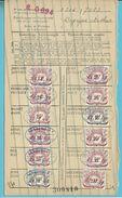 Dokument Met Zegels LIJFRENTEZEGEL / Timbres De Retraite Met Privestempel HUIS HOSTENS-MASELIS / ROESELARE 1939-40 - Dokumente