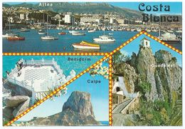 COSTA BLANCA (España) - Multivues (Altea-Port, Benidorm, Calpe, Guadalest) - Animée - Non écrite -Scan Recto-verso - Espagne