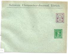 """PrU-210  """"Schweiz. Uhrmacher-Journal, Zürich""""              1907 - Entiers Postaux"""