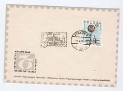 1968 KRAKOW KOLEBKA POLISH PHILATELY EVENT COVER Poland BALLOON Stamps Ballooning - Transport