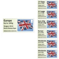 2015 UK/ Great Britain -  Singpex - Poost And Go  -Union Jack Strip - 6 V S.adhesive-MNH** - Great Britain