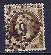 "FR YT 30 "" Napoléon III Lauré 30c. Brun "" GC 549 BOULOGNE-S-MER - 1863-1870 Napoleon III With Laurels"