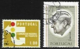 PORTUGAL, AF 945, 1106: Yv 955, 1116, Shifted Perfs, Used, F/VF - Errors, Freaks & Oddities (EFO)