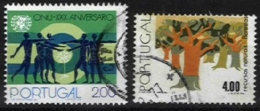 PORTUGAL, AF 1258, 1324: Yv 1268, 1333, Shifted Perfs, Used, F/VF - Errors, Freaks & Oddities (EFO)