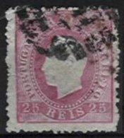 PORTUGAL, AF 40, Yv 37, Pelure Paper, Used, F/VF - 1862-1884 : D.Luiz I