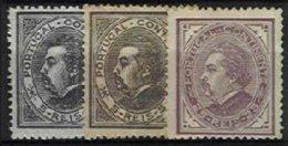 PORTUGAL, AF 52, 54: Yv 51/52, (*) MNG, F/VF, Cat. € 150,00 - 1862-1884 : D.Luiz I