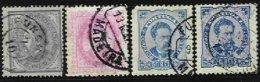 PORTUGAL, AF 54, 58, 62: Yv 52,58,61, Used, Ave/Fine, Cat. € 50,00 - 1862-1884 : D.Luiz I
