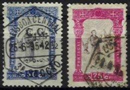 PORTUGAL, AF 117/18, Yv 115/16, Used, Ave, Cat. € 110,00 - 1862-1884 : D.Luiz I