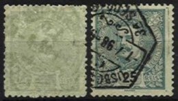 PORTUGAL, AF 128, 131: Yv 126, 130, Recto-verso, Used, F/VF - Errors, Freaks & Oddities (EFO)