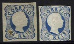 PORTUGAL, AF 12, Yv 11, (*) MNG, Ave/Fine, Cat. € 1090,00 - 1855-1858 : D.Pedro V