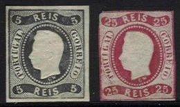 PORTUGAL, AF 19, 22: Yv 18, 21, (*) MNG, Ave/Fine, Cat. € 690,00 - 1862-1884 : D.Luiz I
