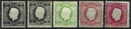 PORTUGAL, AF 36, 40, 49: Yv 35, 37, 40, (*)/* MNG/MLH, Ave/Fine, Cat. € 535,00 - 1862-1884 : D.Luiz I