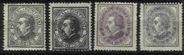 PORTUGAL, AF 52, 54: Yv 51/52, (*)/* MNG/MLH, Ave/Fine, Cat. € 200,00 - 1862-1884 : D.Luiz I