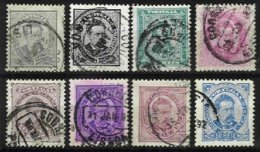 PORTUGAL, AF 56/58, 60/63: Yv 56/59, 56A, Used, Ave/Fine, Cat. € 45,00 - 1862-1884 : D.Luiz I