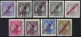 PORTUGAL, AF 170/76, 179: Yv 168/74, 177, (*)/* MNG/MLH, F/VF, Cat. € 35,00 - 1910 : D.Manuel II