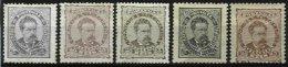 PORTUGAL, AF 56/57, 60: Yv 56, 56A, 59, (*)/* MNG/MLH, Ave/Fine, Cat. € 225,00 - 1862-1884 : D.Luiz I