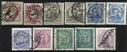 PORTUGAL, AF 16, 22, 57, 58, 63, 70, 86: Yv 11, 21, 59/61, 70, 84, Used, F/VF, Cat. € 70,00 - 1862-1884 : D.Luiz I