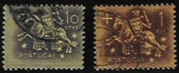 PORTUGAL, AF 764, 768: Yv 775, 779, Shifted Perfs, Used, F/VF - Errors, Freaks & Oddities (EFO)