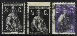 PORTUGAL, AF 207, 211: Yv 207, 211, Shifted Perfs, Used, F/VF - Errors, Freaks & Oddities (EFO)