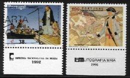 PORTUGAL, AF 2071, 2464: Yv 1896, 2210, */o M/U, F/VF - 1910-... République