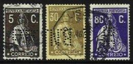 PORTUGAL, AF 227, 234, 410: Yv 219, 274, 428, Used, F/VF - 1910-... République