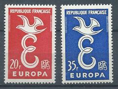 France YT N°1173/1174 Europa 1958 Neuf/charnière * - France