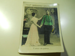 Cigarette Card (16x12cm)Fabrica De Cigarros S. Lourenço*Rio De Janeiro*Brazil*nº4*Differentes Amores - Sigaretten