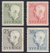 SWEDEN - SVEZIA - SVERIGE - 1951/52 -  Lotto 4 Valori Nuovi Con Traccia Di Linguella: Yvert 355, 357, 359 E 361, MH. - Suecia