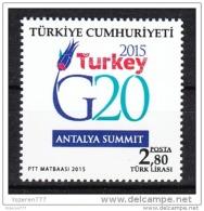(4203) G20 SUMMIT ANTALYA STAMPS MNH** - 1921-... Republic
