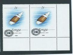 Tonga 1988 1s Shell Pair Private Unauthorised ' NZ 1990 ' Overprint  MNH - Tonga (1970-...)