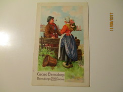 NETHERLANDS  CACAO BENSDORP , PIPE SMOKING MAN   , OLD POSTCARD , KO - Pays-Bas