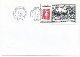 """FRANCE => Enveloppe Avec Porte-Timbre """"Je Sème, Ils Récoltent"""" 10 Mai 1991 - Non Adressée - Erinnophilie"""