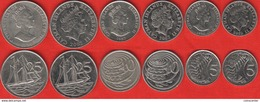 Cayman Islands Set Of 6 Coins: 5 - 25 Cents 1987-2013 - Cayman Islands