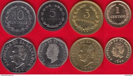 El Salvador Set Of 4 Coins: 1 - 10 Centavos 1974-1995 UNC - Salvador