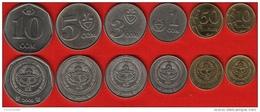 Kyrgyzstan Set Of 6 Coins: 10 Tyiyn - 10 Som 2008-2009 UNC - Kirgizië