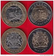 Malawi Set Of 2 Coins: 5 - 10 Kwacha 2006 BiMetallic - Malawi