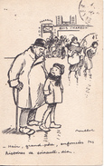 BE17- ILLUSTRATEUR POULBOT   MERCI GRAND PERE ENFONCEES TES HISTOIRES EN 70 ANS    CPA CIRCULEE - Poulbot, F.