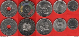 Papua New Guinea Set Of 5 Coins: 5 Toea - 1 Kina 2009-2015 UNC - Papouasie-Nouvelle-Guinée