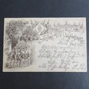 Ansichtskarte Vorläufer Dresden Gut Heil Turnen Sport Verlag Miesler Berlin 1885 - Deutschland