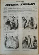 1856  JOURNAL AMUSANT N° 32 FANTAISIES PHOTOGRAPHIQUES Par MARCELIN - LES TROUPIERS Par RANDON - IL N'Y A PLUS D'ENFANTS - 1850 - 1899